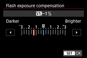 Màn hình điều chỉnh bù trừ phơi sáng exposure compensation