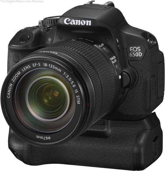 Canon EF-S 18-135mm IS STM trên body Canon 650D và Grip BG-E8