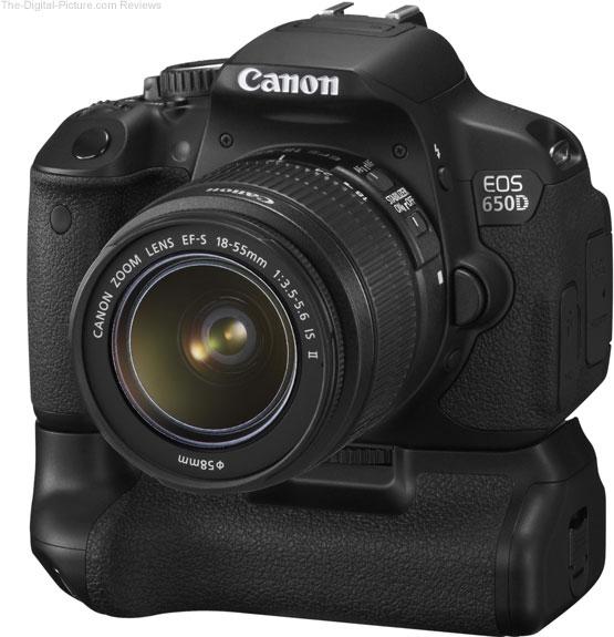 Canon EF-S 18-55mm IS II trên body Canon 650D và grip BG-E8