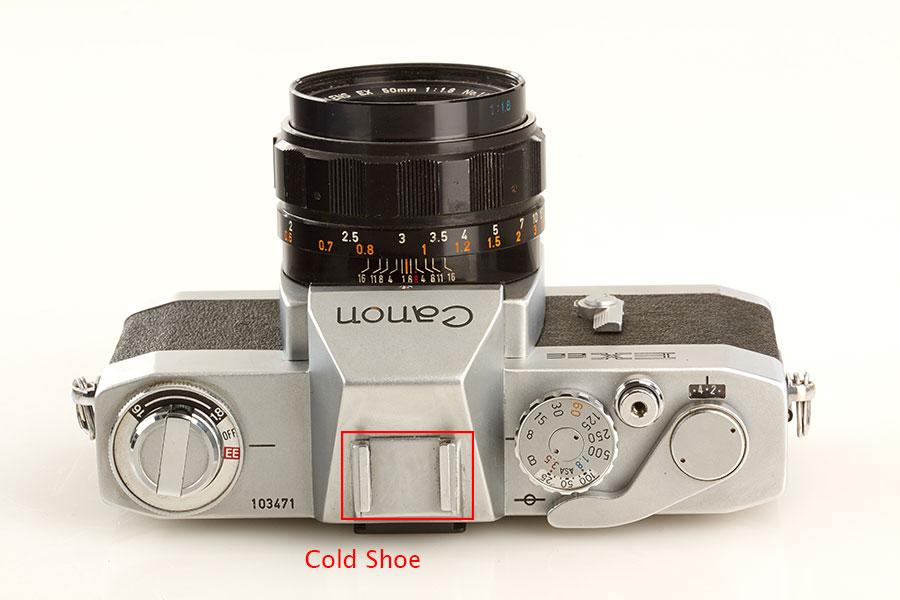 Cold Shoe của máy ảnh Canon EX EE QL