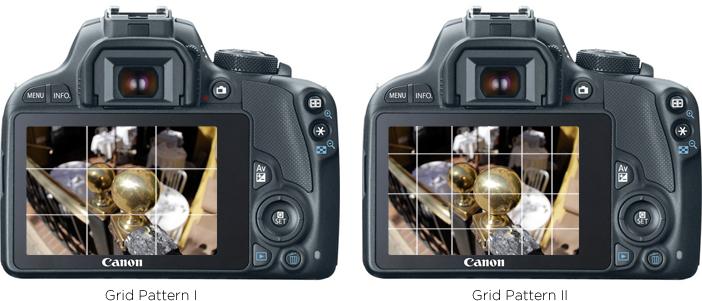 Các chế độ đường lưới khác nhau trên máy ảnh